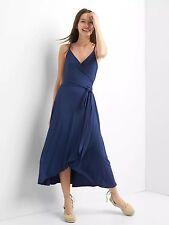 NWOT Gap Cami wrap dress, comet blue SIZE S        #720025 v715