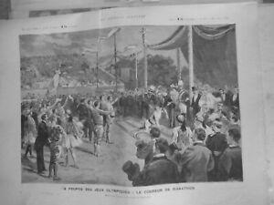 1896 Ji Jeux Olympic Runner Marathon Drawing Tofani