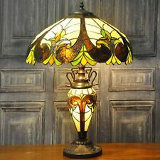 Double Tiffany Lamp Electric Light Multi Coloured Design Home Lighting Decor