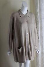 "Maria Di Ripabianca XL SOFT 50% Cashmere 50% Silk 32"" Long Boxy Cardigan Sweater"