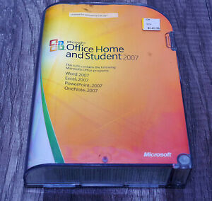 Microsoft Office 2007 Home and Student & Win XP thru 7/10 GENUINE Word Excel +