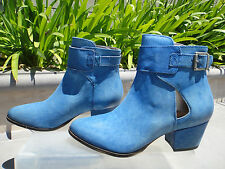 Free People BELLEVILLE Ankle Bootie, Leather COBALT Blue, Womens' Size EUR37