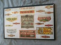 Collectible Twenty Cigar Box and Band Labels on Poster Board