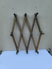 VTG Expandable Wooden Accordion Rack 10 Peg Wall Hang Coat Hat Jewelry