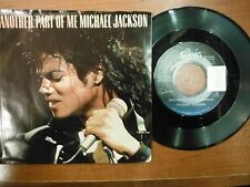 45 Vinyl PS Michael Jackson Another Part Of Me Epic  Records VG+ SMCO3