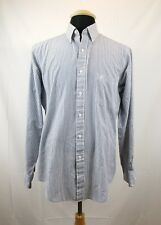 Etienne Aigner Mens Long Sleeve Button Up Shirt Size 16 34/35 Cotton Blend