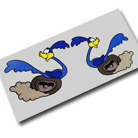 Road Runner stickers decals motorcycle decals graphics x 2 SMALLER SIZE