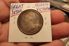 1840 EAST INDIA COMPANY ONE RUPEE SILVER COIN GREAT DETAIL ON QUEEN VICTORIA