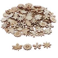 100 Stück Blume Und Blatt Holzscheiben Holzstücke Für Scrapbooking Handwerk