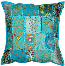 20 x 20 XL Blue Decorative throw pillows, meditation yoga pillows, gypsy Pillows
