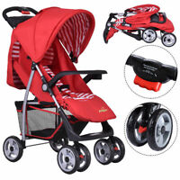 Foldable Baby Kids Travel Stroller Newborn Infant Buggy Pushchair Child Red