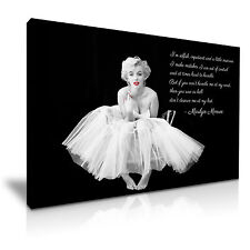 Marilyn Monroe Quote I'm Selfish Canvas Wall Art Picture Print 76cmx50cm