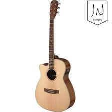 J.N Guitars Asyla Left Hand Auditorium Cutaway Acoustic Electric Guitar Natural