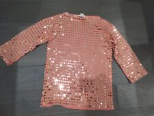 MICHAEL KORS Flamingo sweater with gold studs thru' front & back size XS