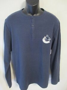 NHL Cotton Blend Size M SAN JOSE SHARKS Long Slve Henley Shirt SR$45 NEW