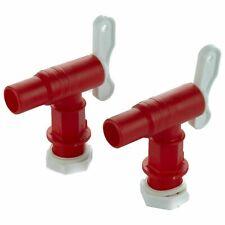 Wasserhahn Auslaufhahn 3/4 Zoll für Regentonne Kunststoff Auslaufventil rot Hahn