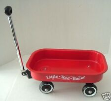 "Vintage Hallmark Little Red Racer Metal Wagon Toy Display Small 12 1/2""  Retro"