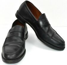 BROOKS BROTHERS USA Black Leather Slip On Penny Loafers Dress Shoes Mens 11D s10