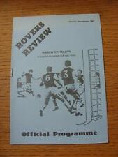07/02/1987 Peterborough Minor Cup Semi-Final: Eastfield Rovers v March St Marys