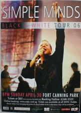 SIMPLE MINDS 2006 SINGAPORE CONCERT TOUR POSTER-NEWWAVE