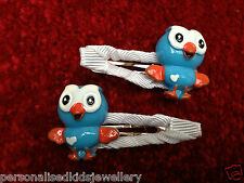 Girls Hair Clip giggle & HOOT THE OWL 2x Clips or Hootabelle PEPPA Party Favour