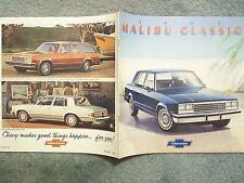 1982 MALIBU CLASSIC BROCHURE  A BEAUTIFUL CAR AND A BEAUTIFUL BUY  10 X 10