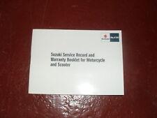SUZUKI  SERVICE BOOK BLANK UN STAMPED GENUINE NEW
