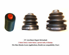 Honda Acura CV Axle Boots Repair Kit, 2 Boots, 4 Clamps, 1 Grease, With Warranty