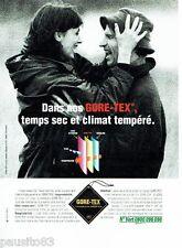 PUBLICITE ADVERTISING 116  1996  Les vetements de pluie Gore-Tex imperméables