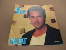 "DON JOHNSON "" HEARTBEAT "" 7"" SINGLE P/S EXCELLENT 1986"