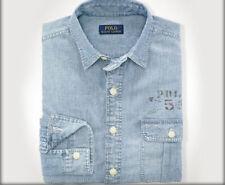 47ef2268b5 Polo Ralph Lauren Mens Denim Chambray RL Eagle Logo Slim Button Down Shirt  2xl