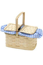 Brand New Dorothy Wizard of OZ Blue/White Gingham Basket Costume Accessory