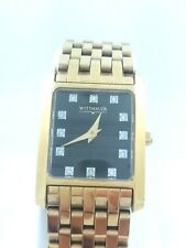 WITTNAUER DIAMOND GOLD TONE STAINLESS STEEL WATCH