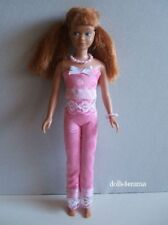 Vintage SKIPPER DOLL CLOTHES Pink Top, Leggings & Jewelry Fashion NO DOLL d4e