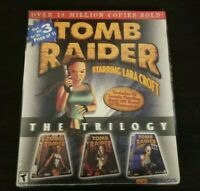 Vintage Eidos Tomb Raider The Trilogy 1, 2, 3 Big Box PC Retro Game Lara Croft