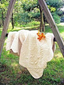 Soft Surroundings French Market Quilt Linen Cotton King Natural Color