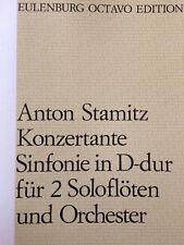 Stamitz - Konzertante Sinfonie in D-dur - für 2 Soloflöten und Orchester