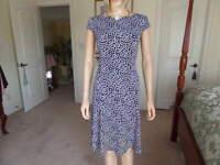 Evan Picone Black label Black/White Polka Dot Sheath Dress Size 4