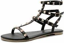 Women's Elastic Ankle-Wrap Gladiator Sandals