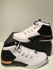 New Air Jordan XVII 17 + Retro White Metallic Copper B-grade Size 16 832816 122