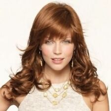 100% Real Hair! Fluffy Wavy Charming Long Brown Capless Wig For Women