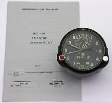 "Soviet 80's-made AirForce Cockpit Clock ACS-1M ""B"" / AChS-1M ""B"" for Su/MiG jets"