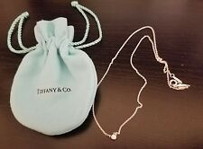 Tiffany & Co Elsa Peretti Diamonds by the Yard Sterling Silver Necklace 0.03 16""