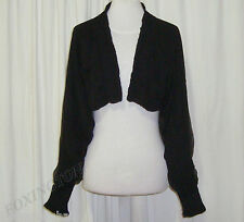 BEAUTIFUL SASS&BIDE BLACK SILK RELAXED FIT CROPPED JACKET 42/6 (AUS 12/14)