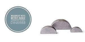 Metric Woodruff Keys Various Sizes Packed in 10,5 & 2pcs