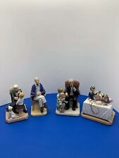 Lot Of #4 Vintage Norman Rockwell Figurines By Norman Rockwell Museum.
