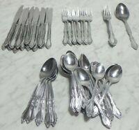 52 Pc Auberge Rogers Stainless Flatware Silverware Korea Lot Fork Spoon Knives +