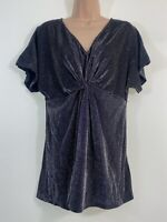 BWNOT NEXT Maternity silver grey long tunic party blouse top size 12