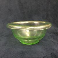 "Hazel Atlas Rest Well Green Vaseline Depression Glass 5"" Mixing Bowl"