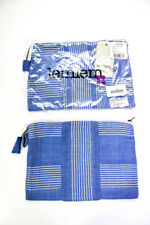 Lem Lem 女式帆布条纹海滩袋矢车菊蓝色批量 2